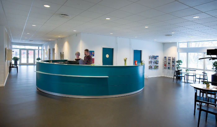 Reception area, Fano Health Center, Denmark
