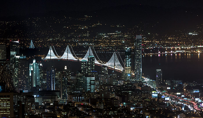 The Bay Lights, Bay Bridge, San Francisco-Oakland