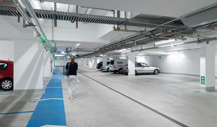 Parking garage Klosterhof with GreenParking system