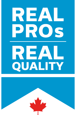 Real pros real quality logo