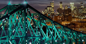 Jacques-Cartier Bridge to reflect energy and pulse of Montreal with Philips intelligent LED lights.