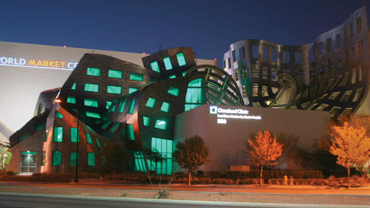 Philips Color Kinetics illuminating the Lou Ruvo center
