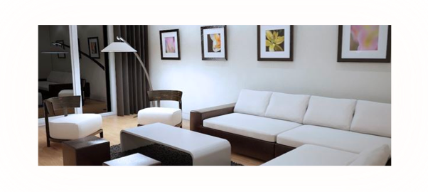 Living room lighting effect with a bright white color temperature